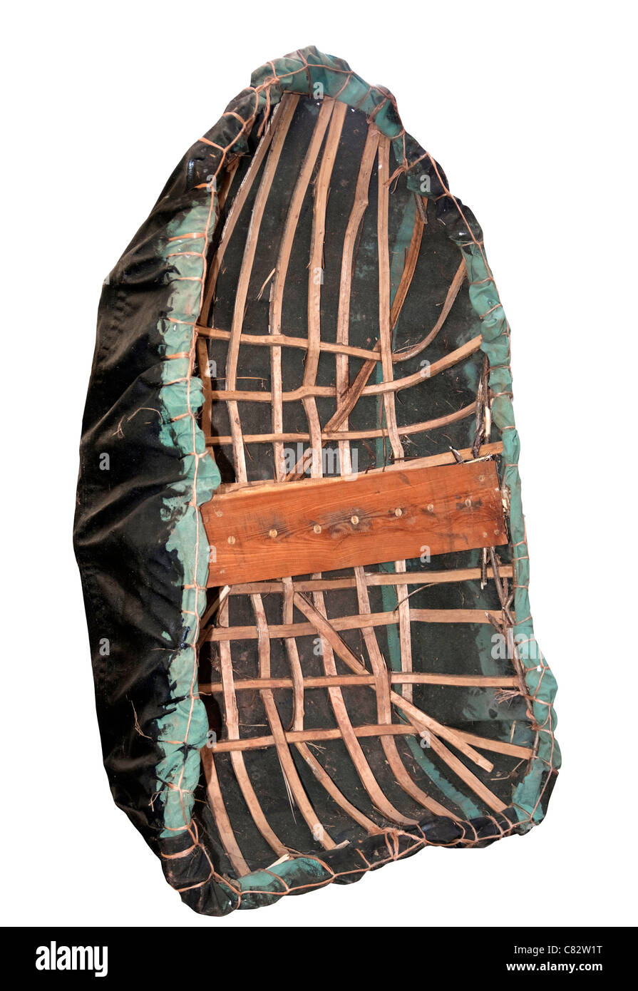 Coracle - a Welsh fishing boat, originally these were made from skins but nowadays synthetic coverings are more - Stock Image