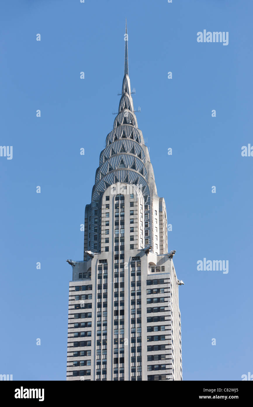 The historic Art Deco styled Chrysler Building in New York City. - Stock Image