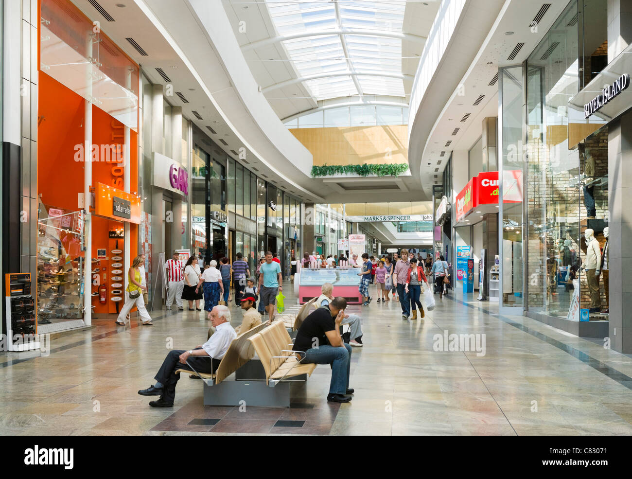 West Quay Shopping Centre in the city centre, Southampton, Hampshire, England, UK - Stock Image