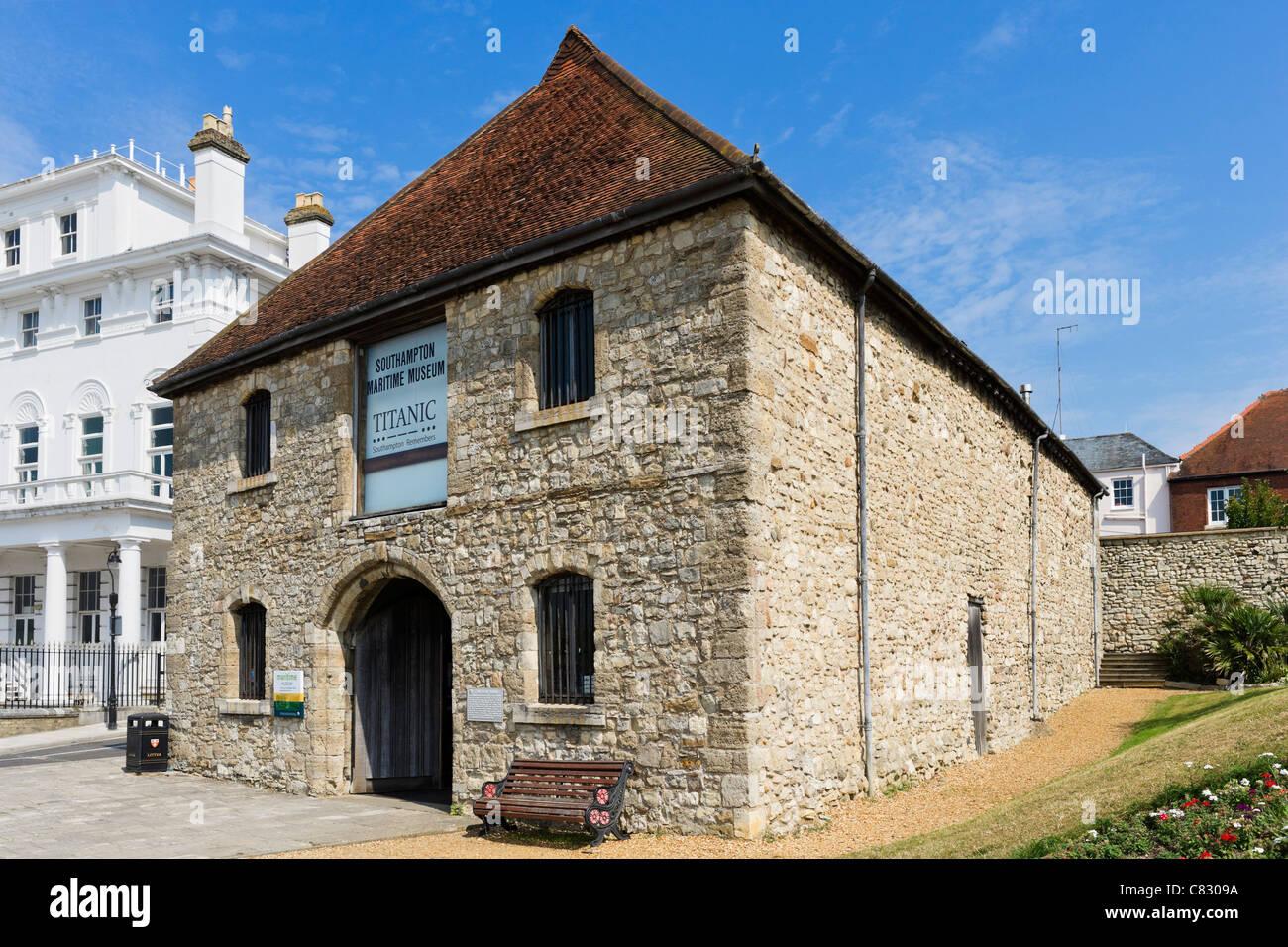 The Wool House, housing The Titanic Exhibition, Sothampton Maritime Museum, Southampton, Hampshire, England, UK - Stock Image