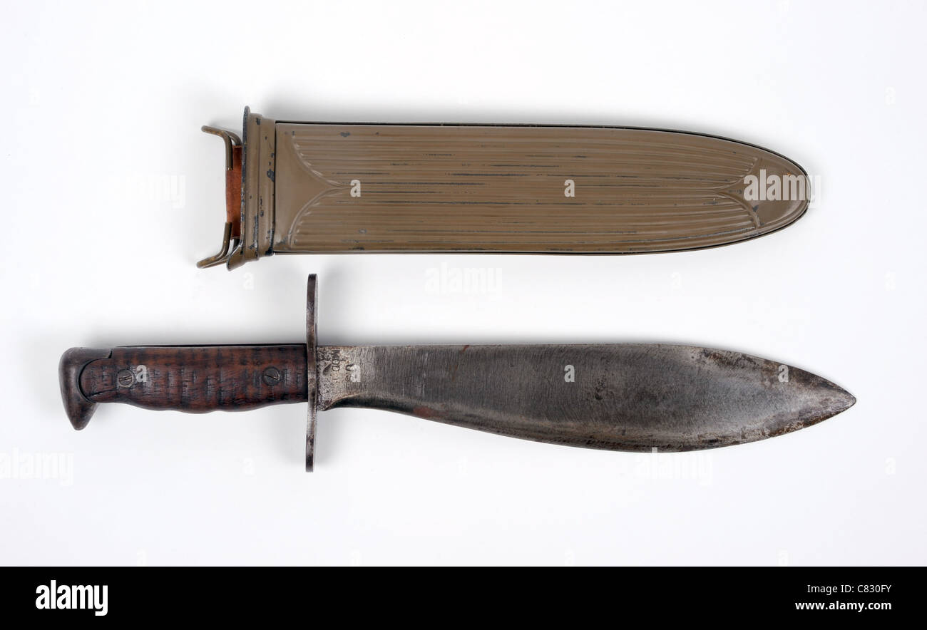 Great War Us Army Bolo Knife M1917 In Fluted Steel Type