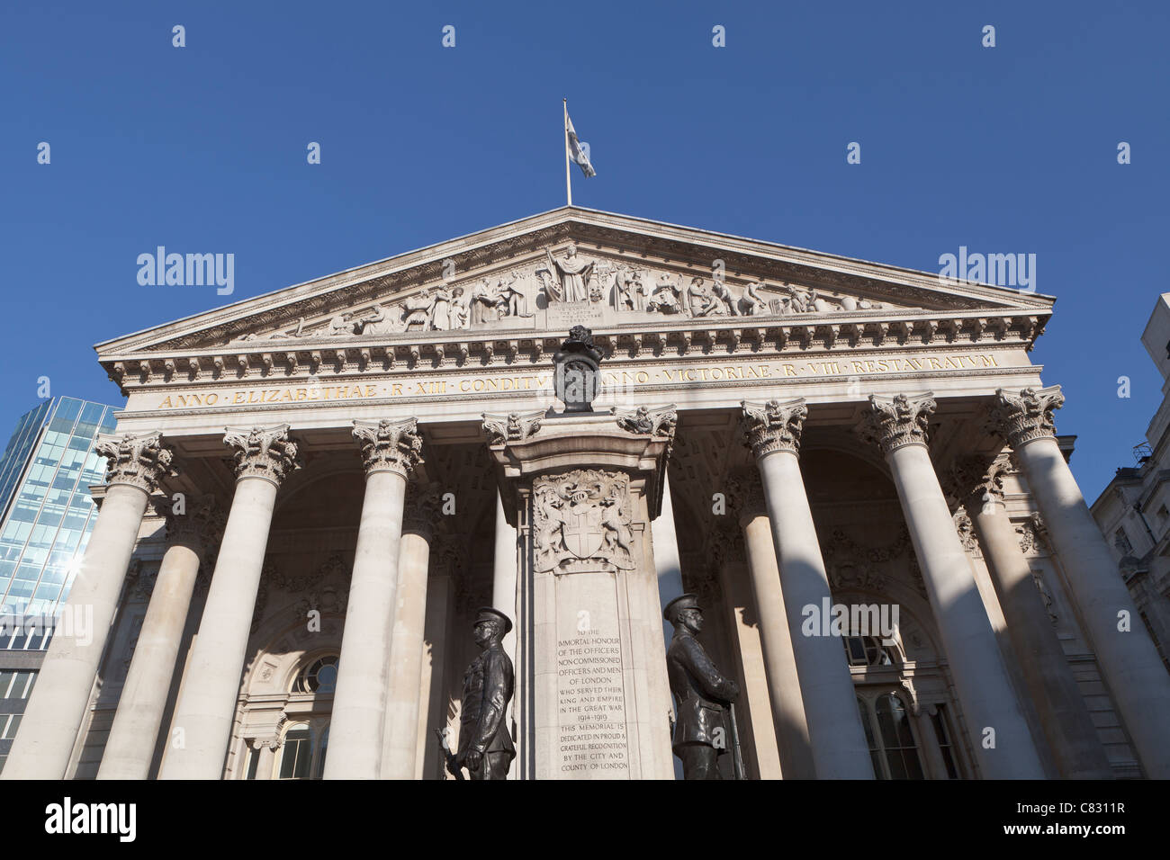 The Royal Exchange in the City of London, England - Stock Image