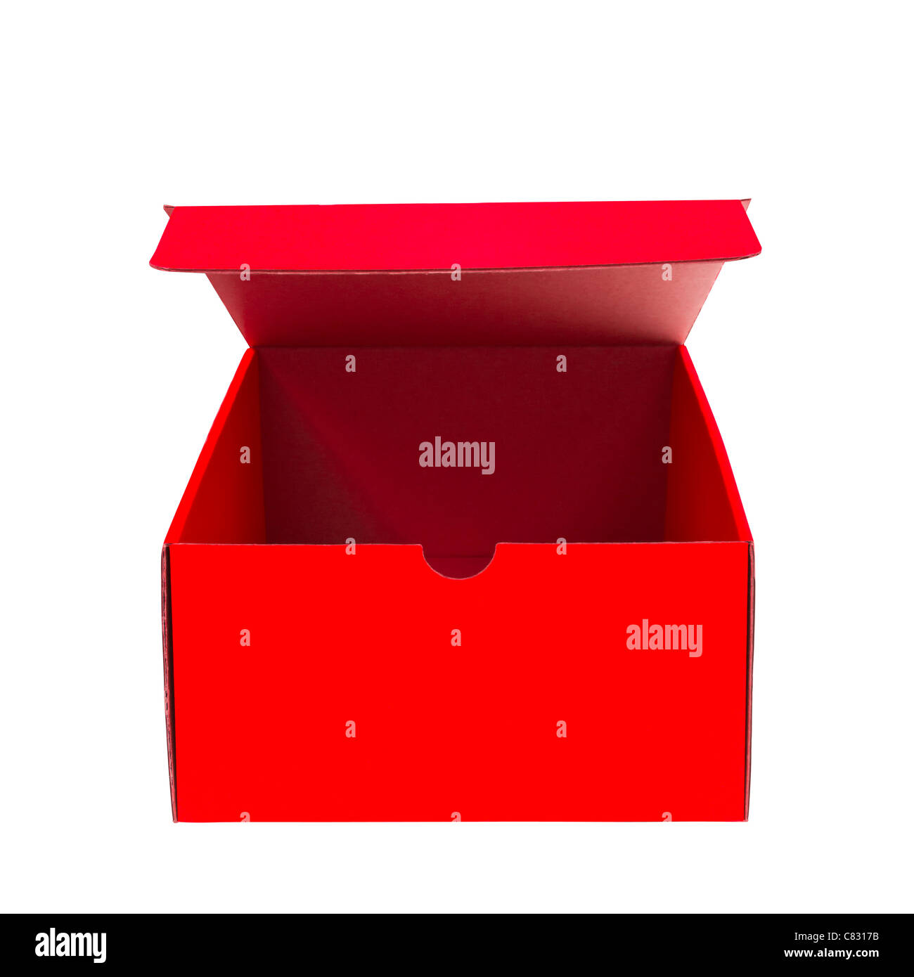 Red open Box - Stock Image