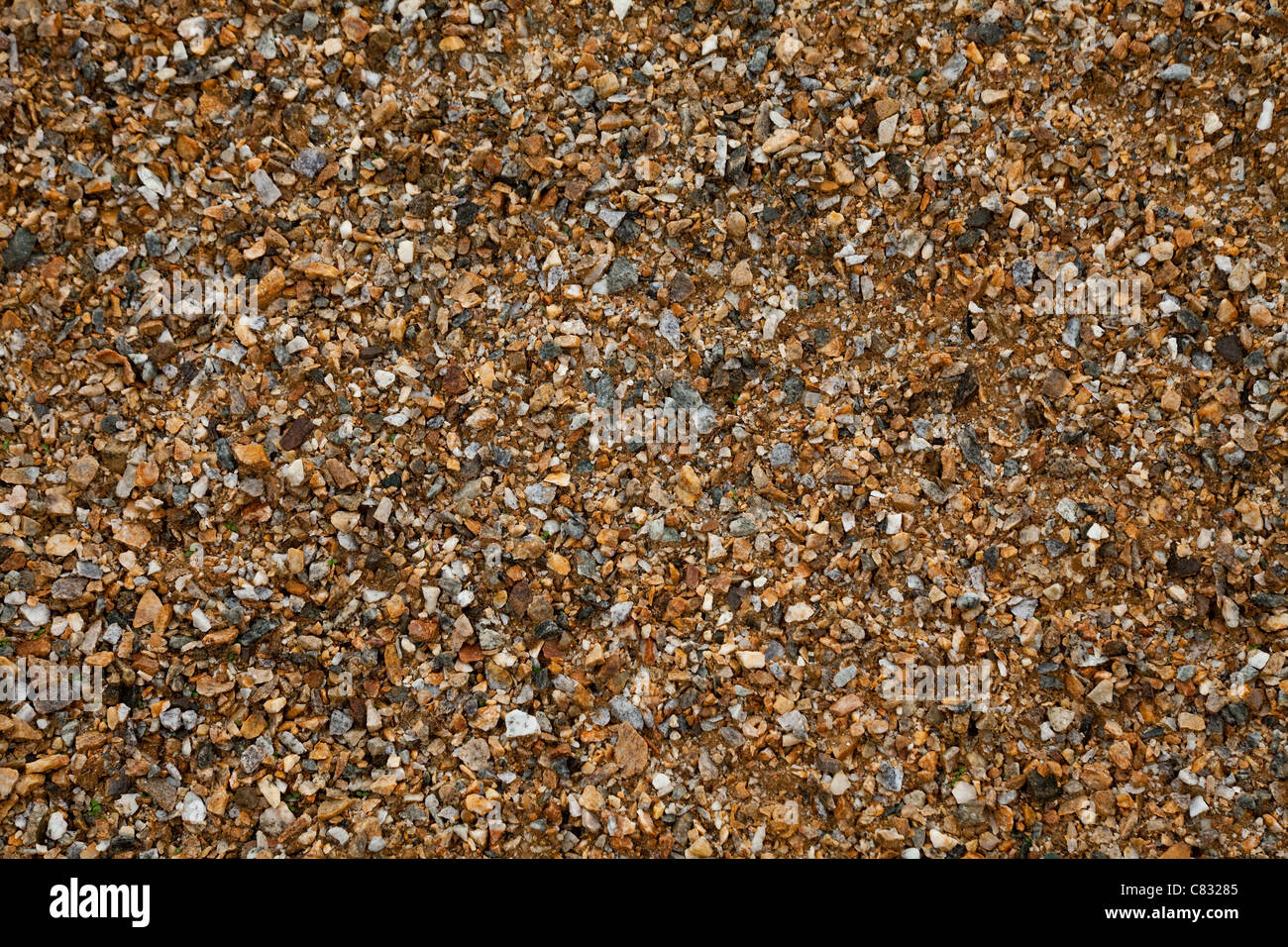 Crusher chips rock for Textured Background - Stock Image