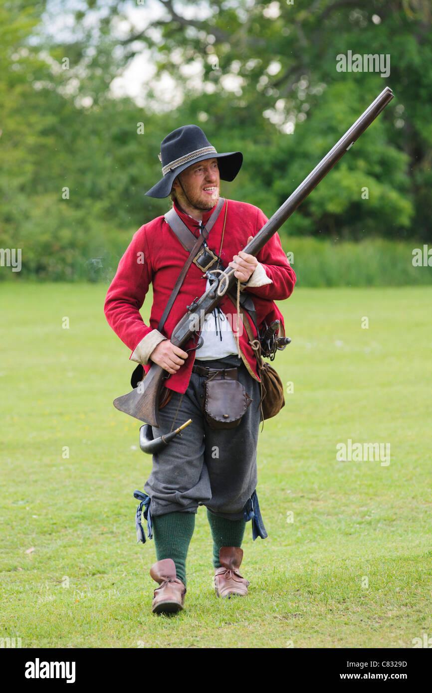 English Civil War re-enactment - Stock Image