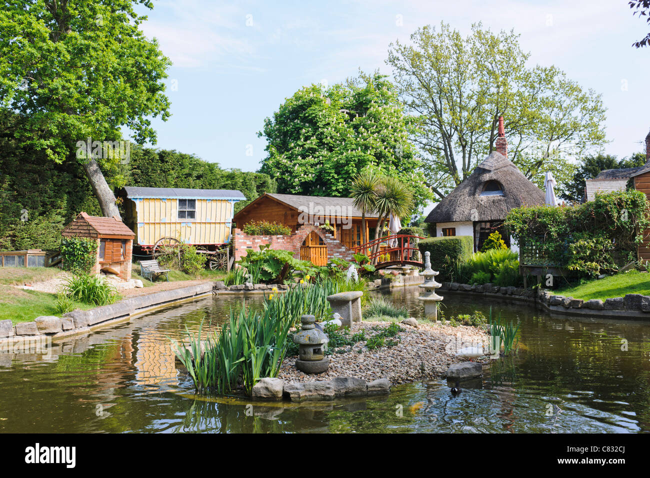 Water Garden, New Forest National Park - Stock Image