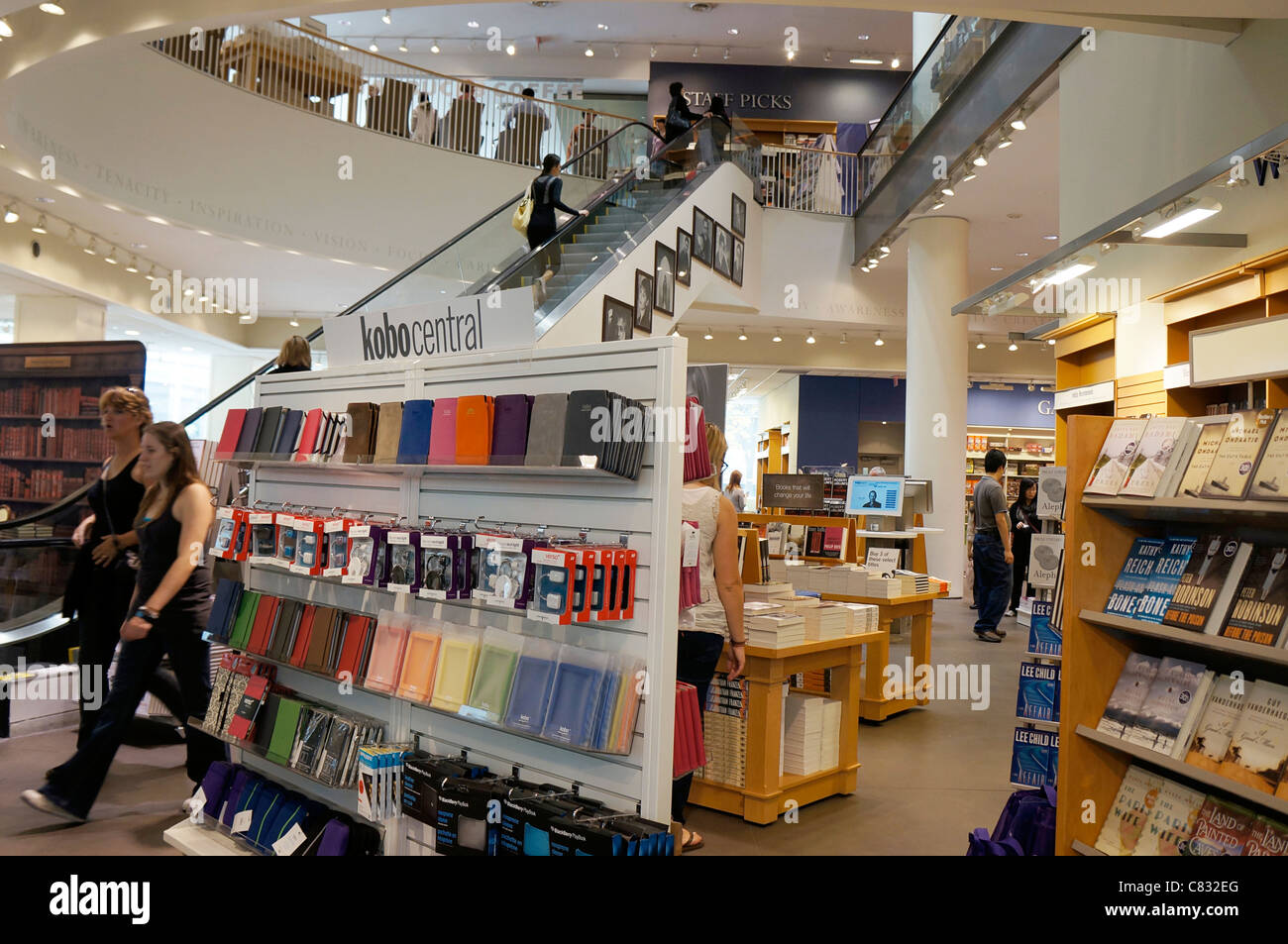 Inside a Bookstore - Stock Image