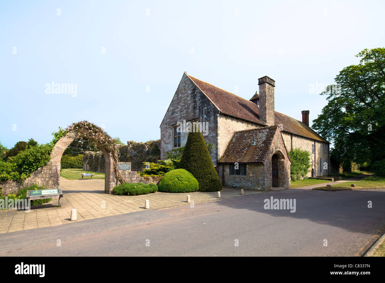 1204 Beaulieu Abbey, New Forest - Stock Image