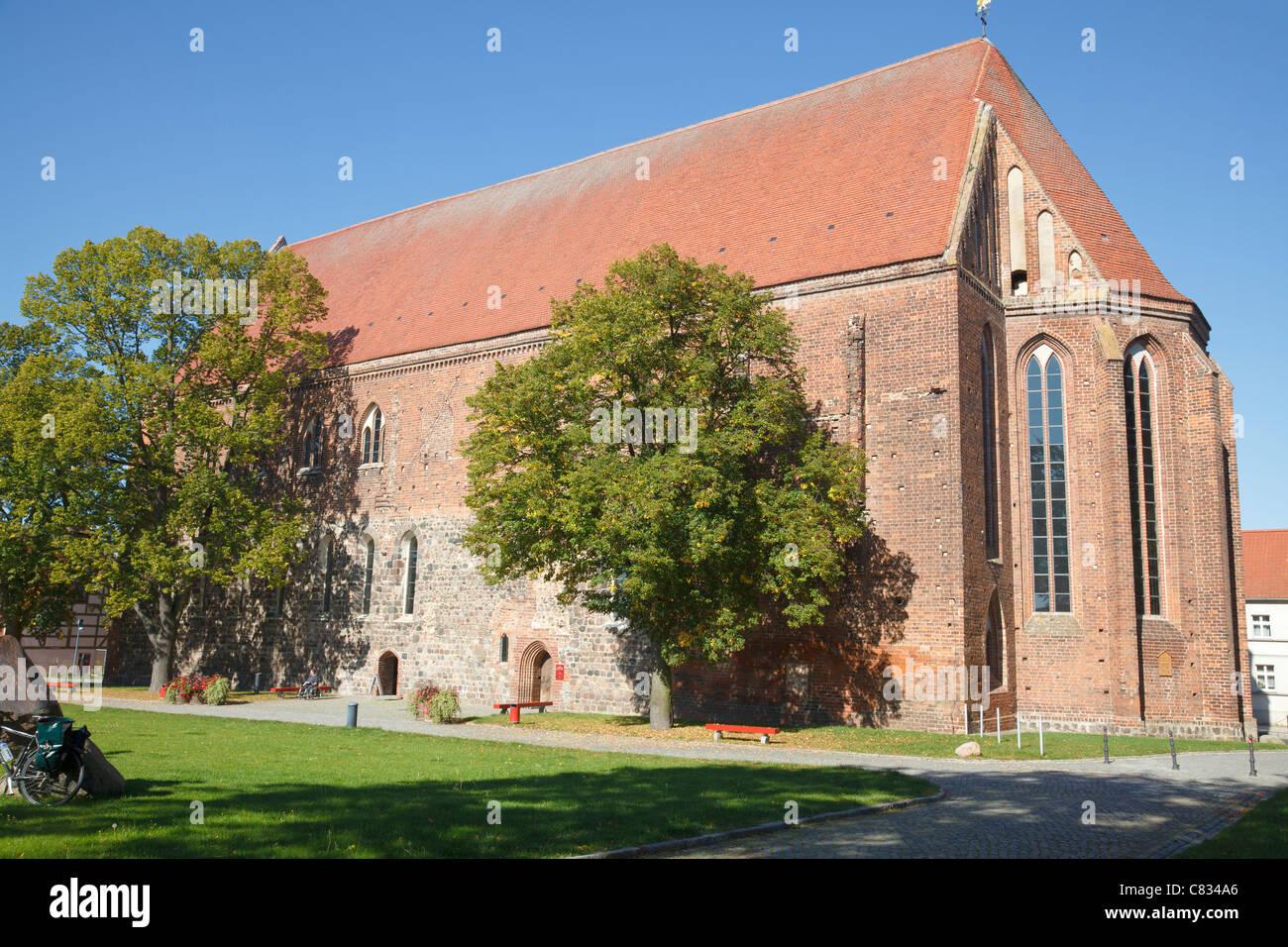 Klosterkirche, Angermuende, Brandenburg, Germany - Stock Image