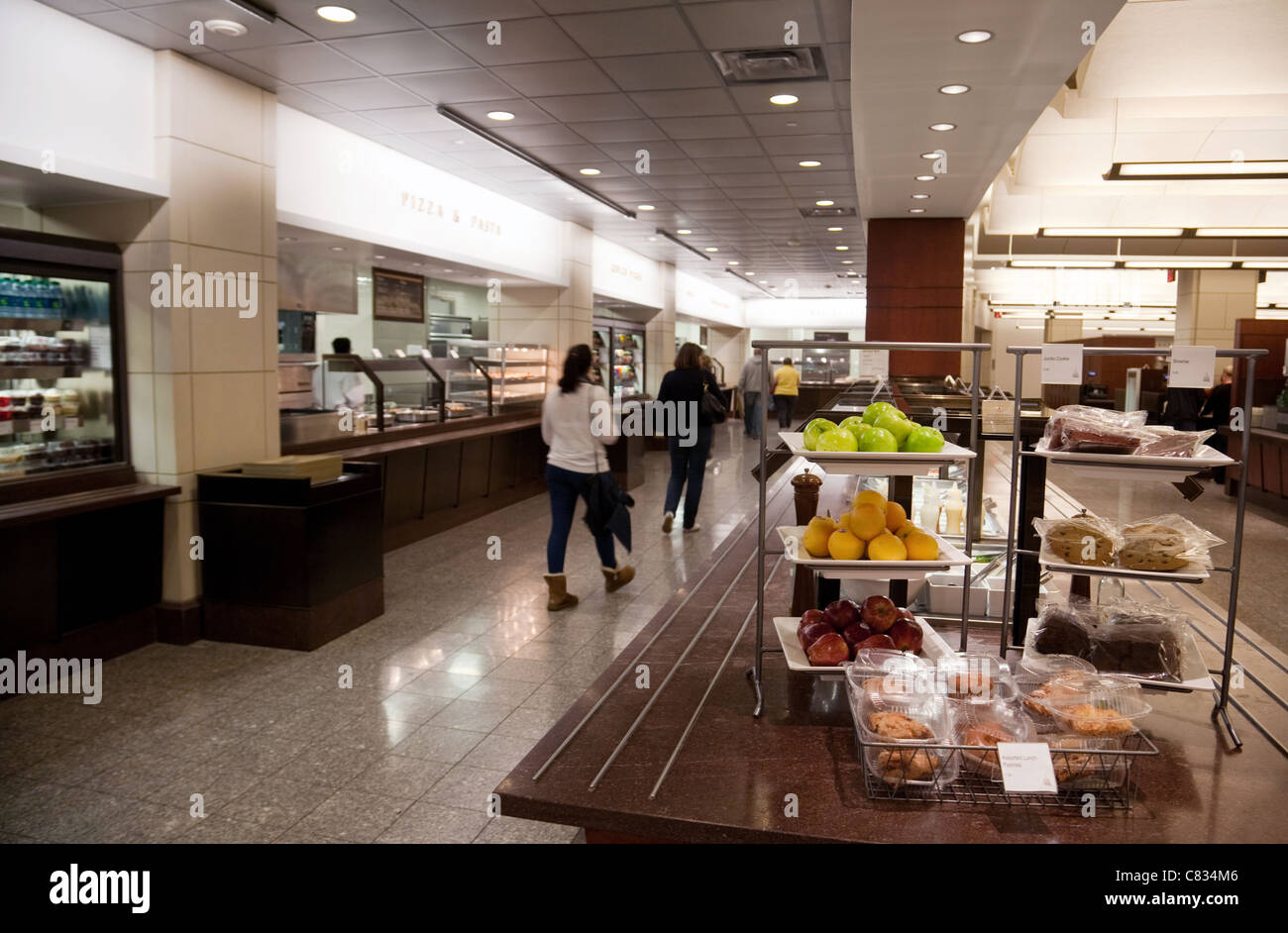 The cafe. restaurant, the Capitol Building visitor Center, Washington DC USA - Stock Image