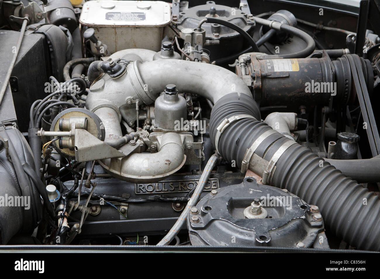 1980 T2 bentley motor car rolls royce engine - Stock Image