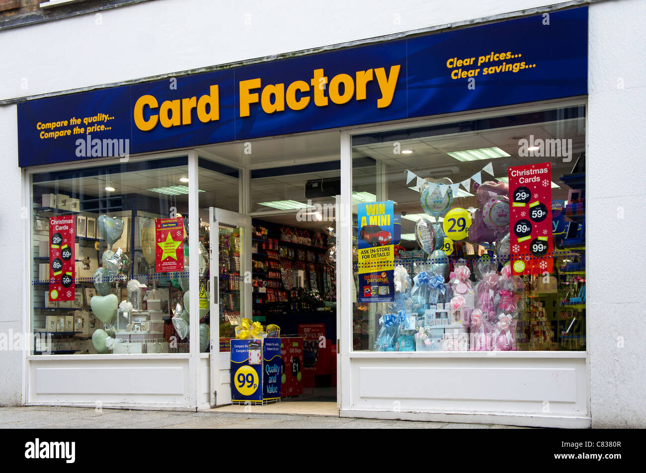 The Card Factory Stock Photos The Card Factory Stock Images Alamy