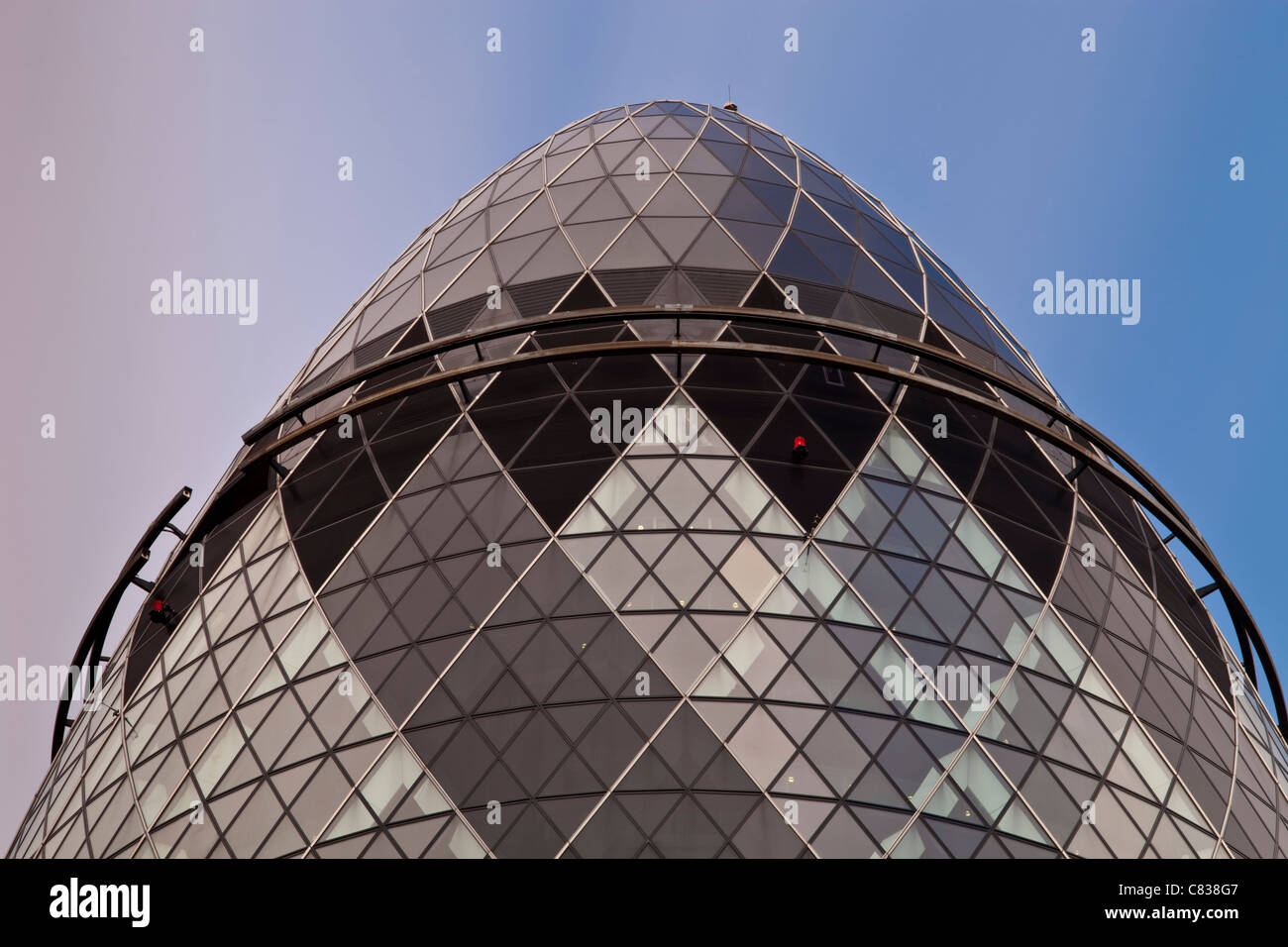 The Swiss RE Building, (The Gherkin) St Mary Axe, London, England - Stock Image