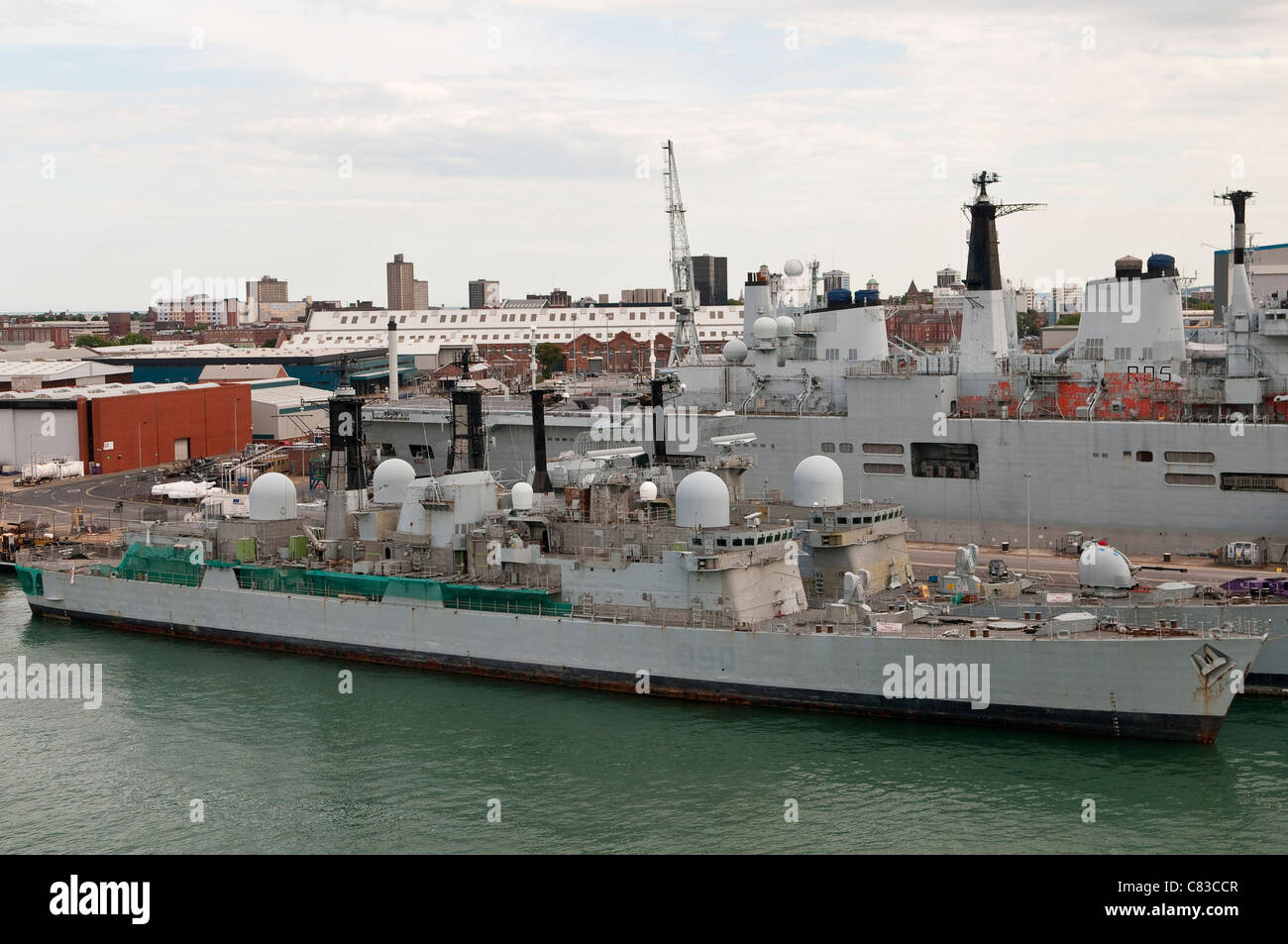 Navy Ships Waiting To Be Scrapped in Portsmouth Dockyard - Stock Image