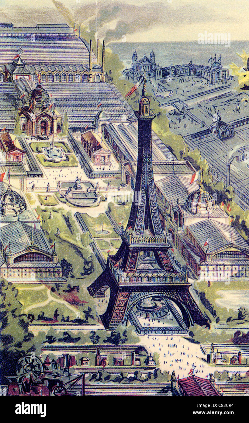 EIFFEL TOWER in 1889 - Stock Image