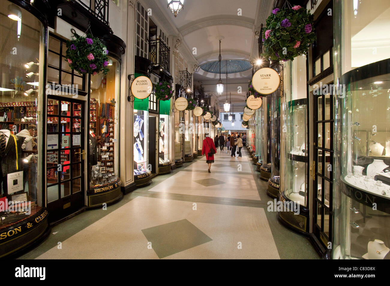 Piccadilly Arcade, London, England Stock Photo