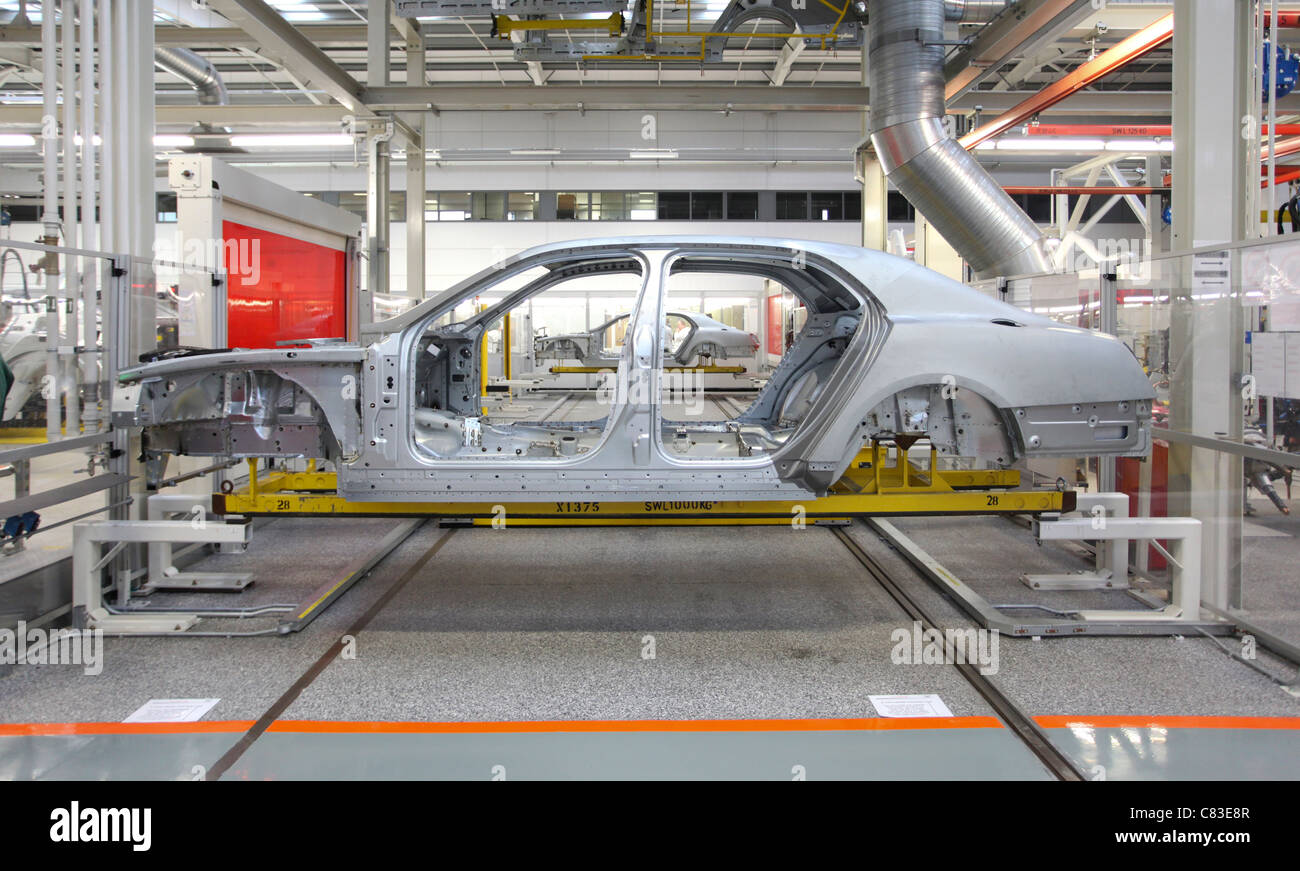 A Mulsanne Bentley motor car at the company's factory in Crewe, U.K. - Stock Image