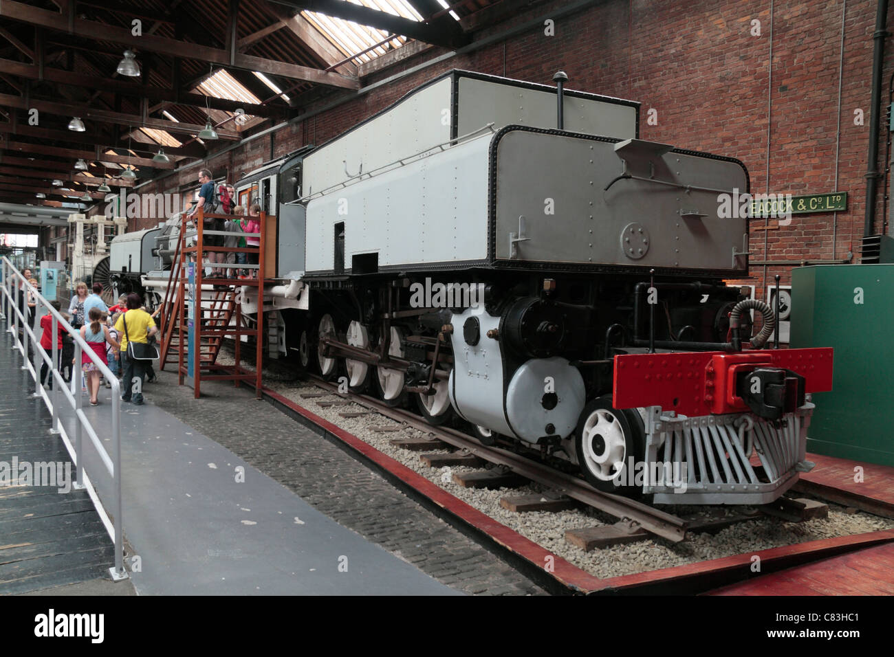 A Beyer-Gerratt locomotive, built in 1930, on display at the Museum of Science & Industry (MOSI), Manchester, - Stock Image