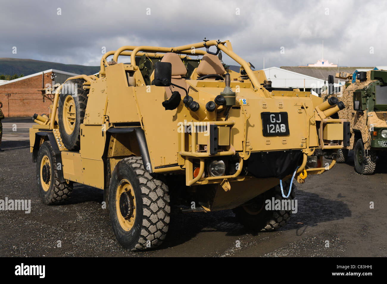 British Army M-Wmik (Mobility Weapons Mounted Installation Kit) as used in Afghanistan - Stock Image