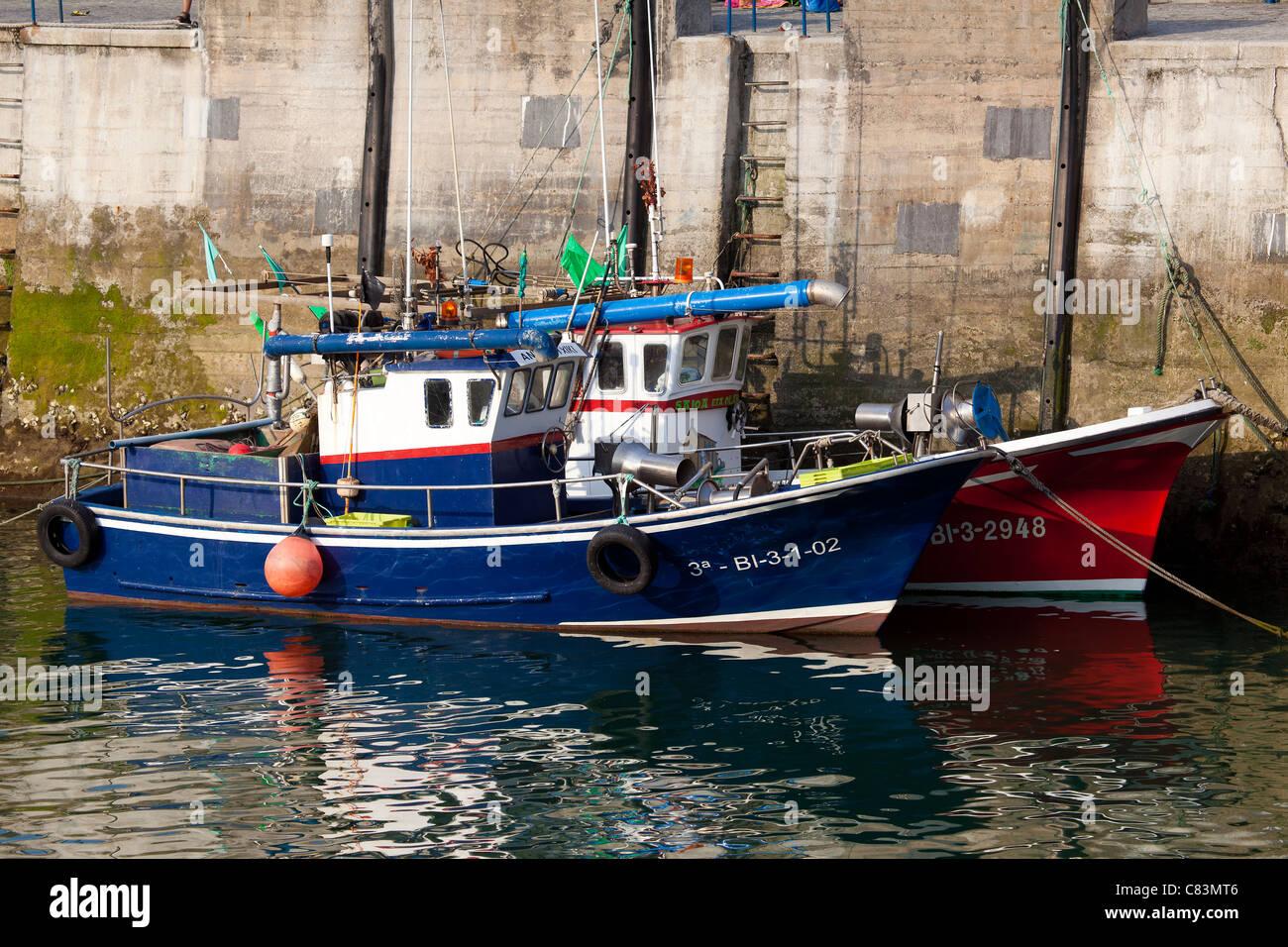 Port of Mundaka, Vizcaya, Spain - Stock Image