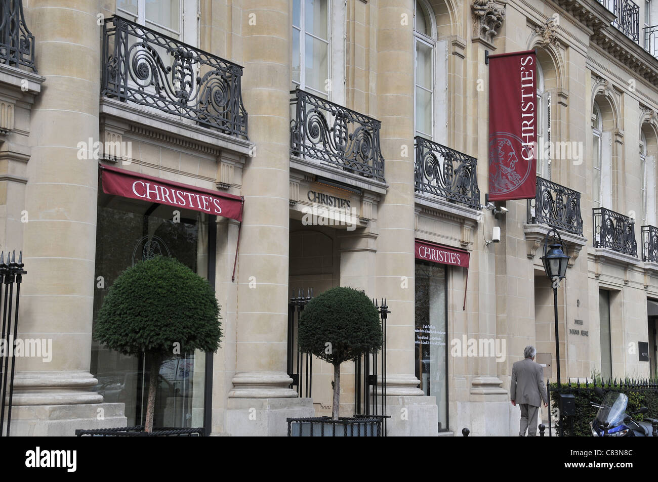 Christie's Matignon avenue Paris France - Stock Image