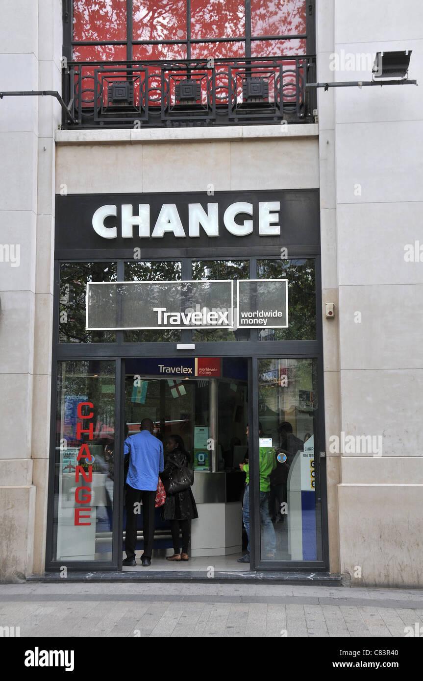 Change Office Champs Elysee Avenue Paris France Stock Photo Alamy