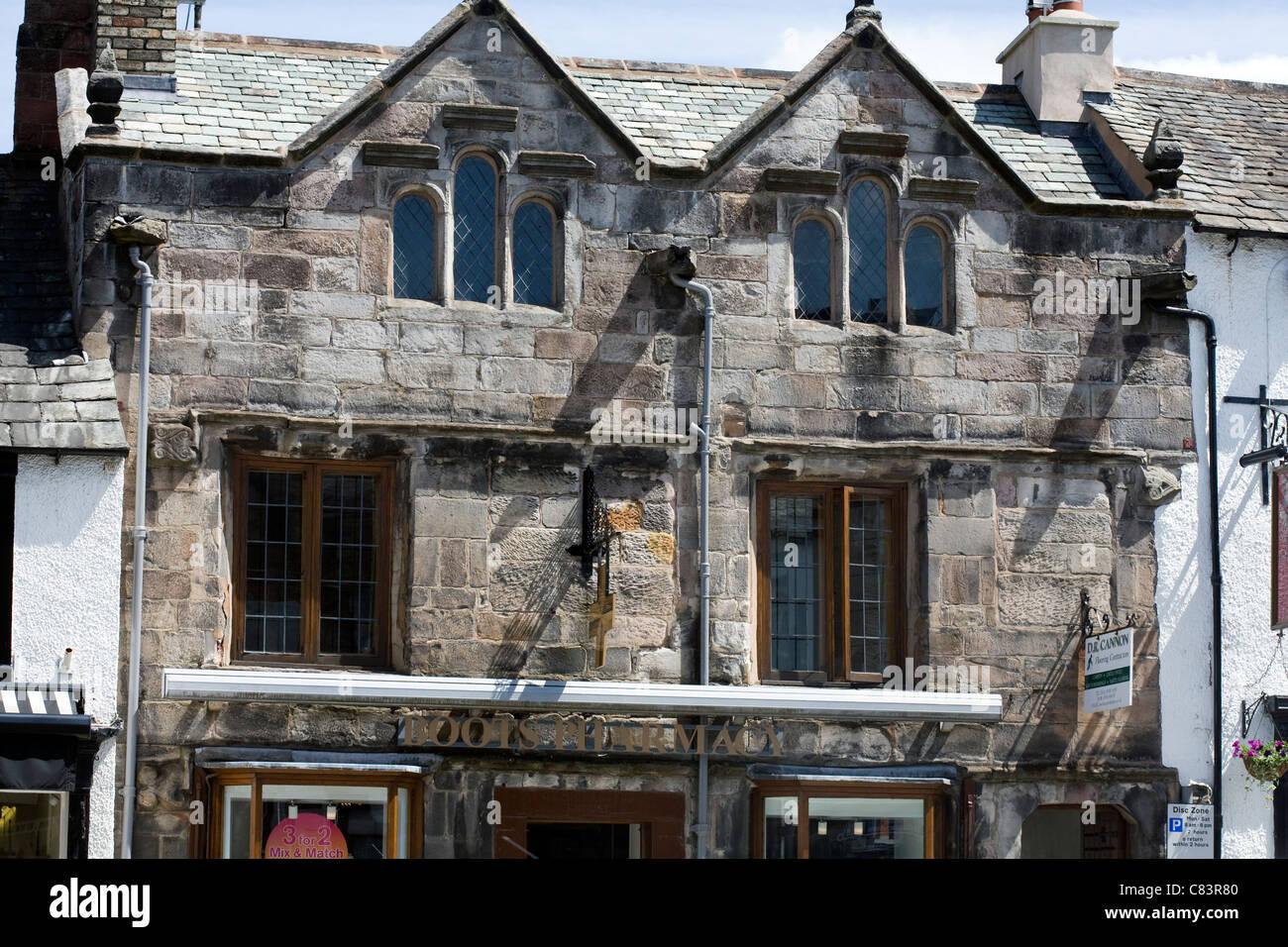 Ancient Facade Boroughgate Appleby-in-Westmorland Cumbria England - Stock Image