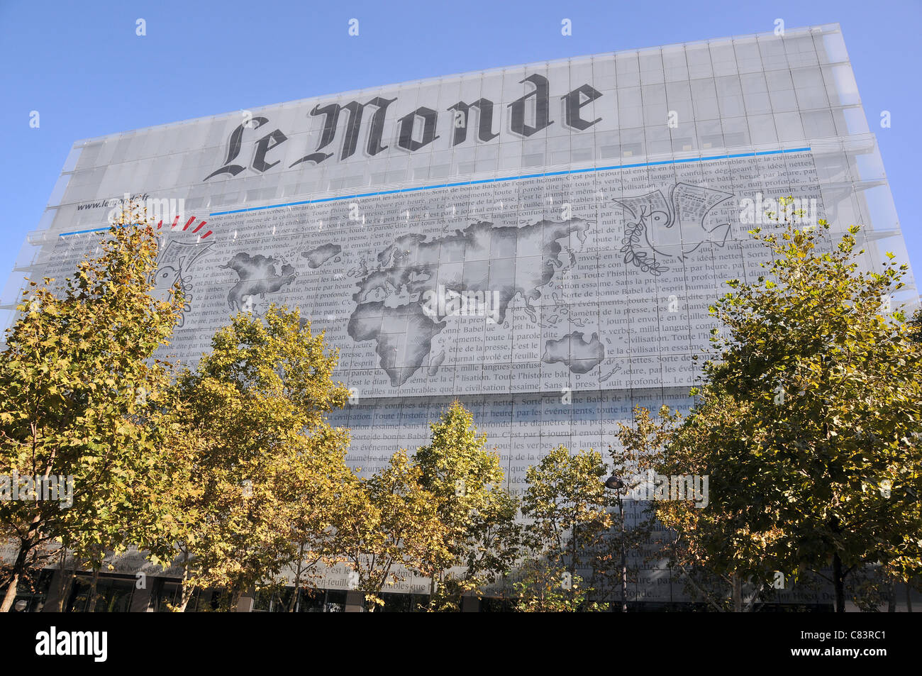 Le Monde daily newspaper building Paris France - Stock Image