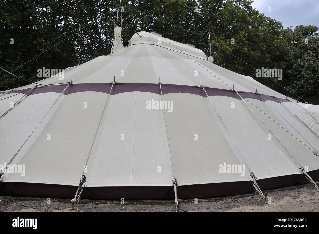 Circus tent in Bercy park Paris France - Stock Image