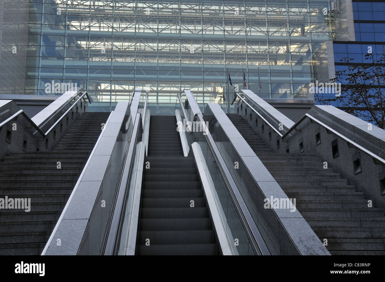 escalator Bercy Paris France - Stock Image