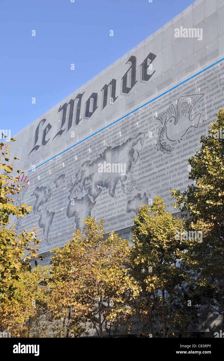 Le Monde daily newspaper building Paris - Stock Image