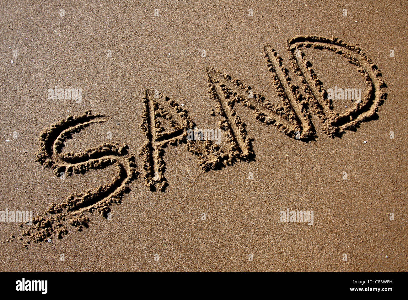 Sand in the sand - Stock Image