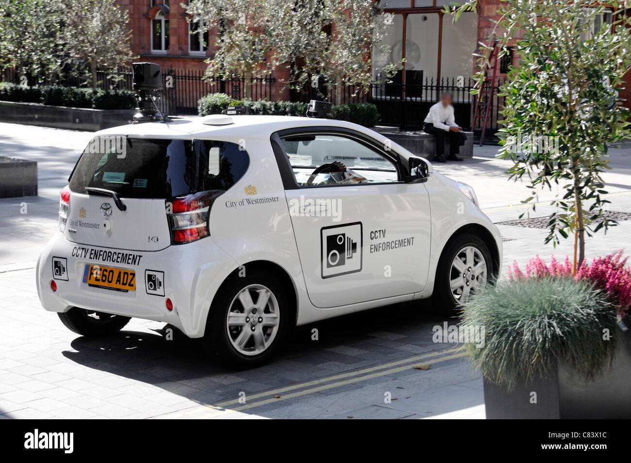 City of Westminster CCTV enforcement car patrolling in Mayfair - Stock Image