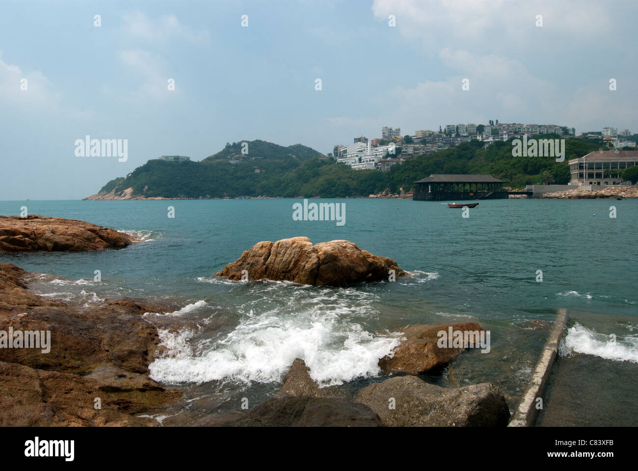 Stanley, Hong Kong, with Murray House and Blake Pier - Stock Image