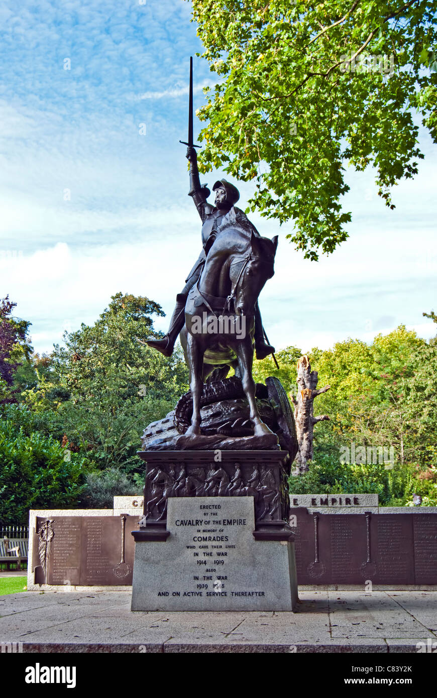 Cavalry Memorial, Hyde Park, London Stock Photo