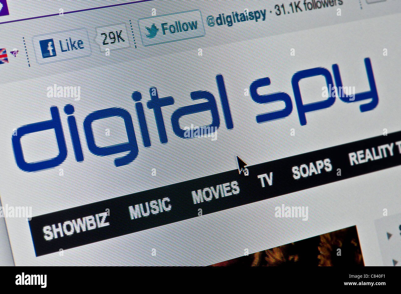 Close up of the Digital Spy logo as seen on its website. (Editorial use only: ­print, TV, e-book and editorial - Stock Image