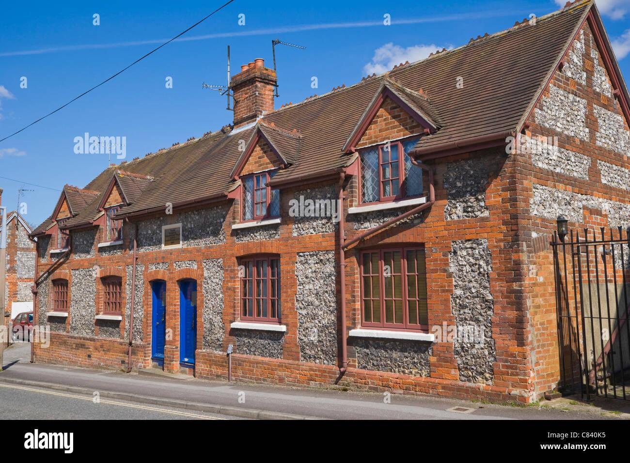 Building of School restored by Charlotte Eliz Pollen in 1872, Marlborough Street, Andover, Hampshire, England, UK - Stock Image