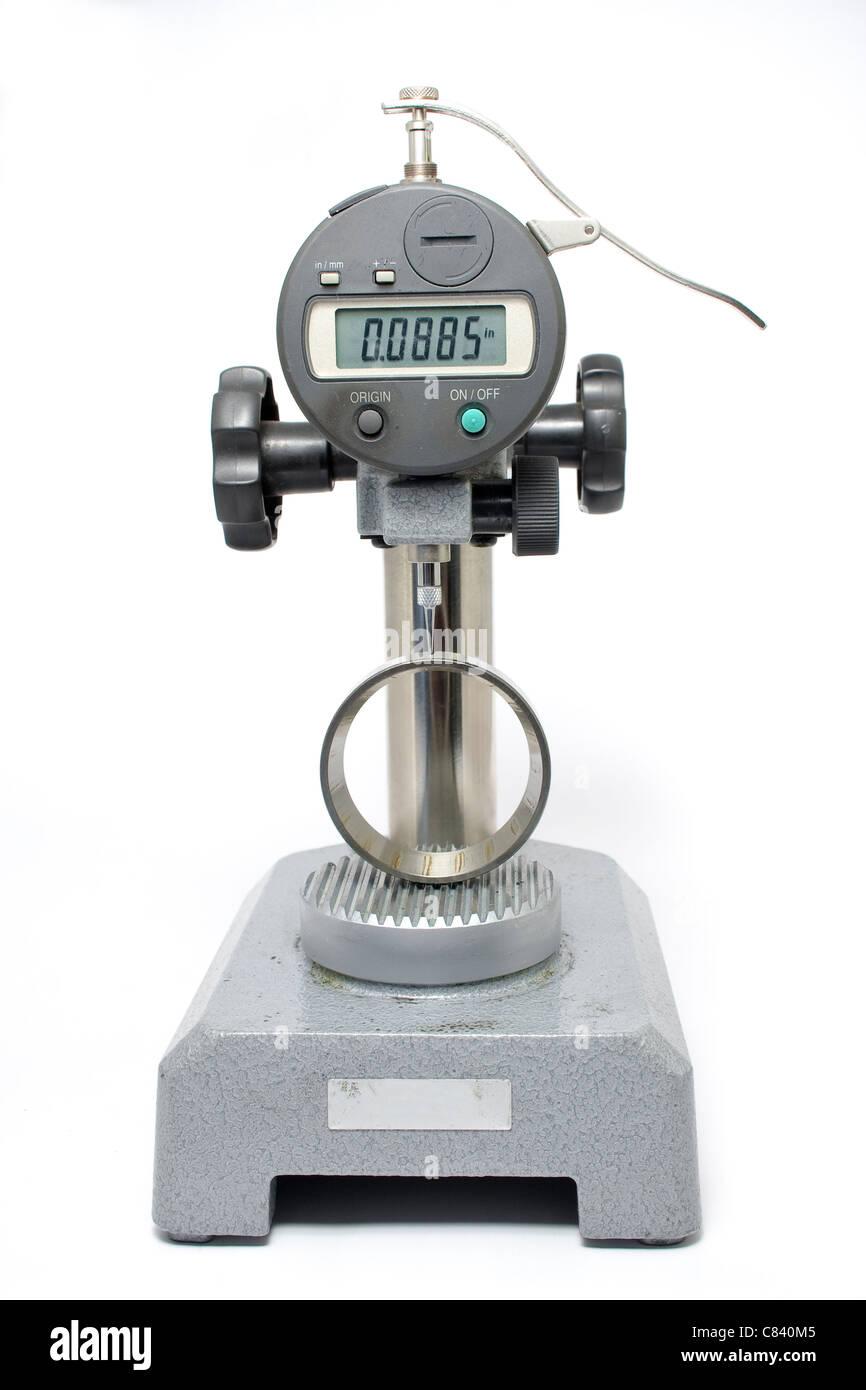 Measuring Equipment Digital Test Gauge Measuring Bearing Shell Isolated - Stock Image