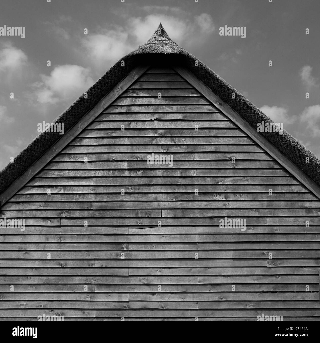 Thatched roof of barn - Stock Image
