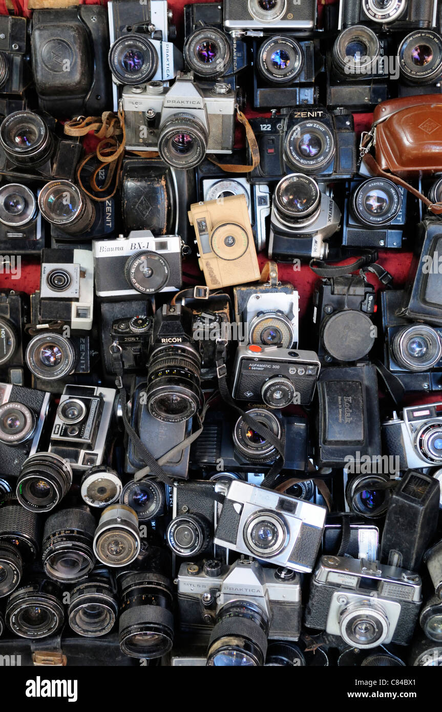 Vintage Cameras for Sale, Marrakesh, Morocco - Stock Image