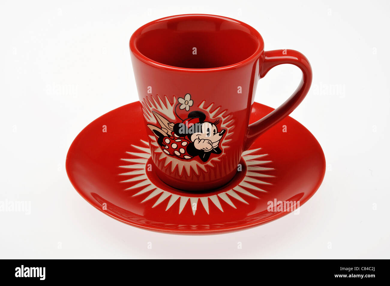Minnie Mouse Cup & Saucer - Stock Image