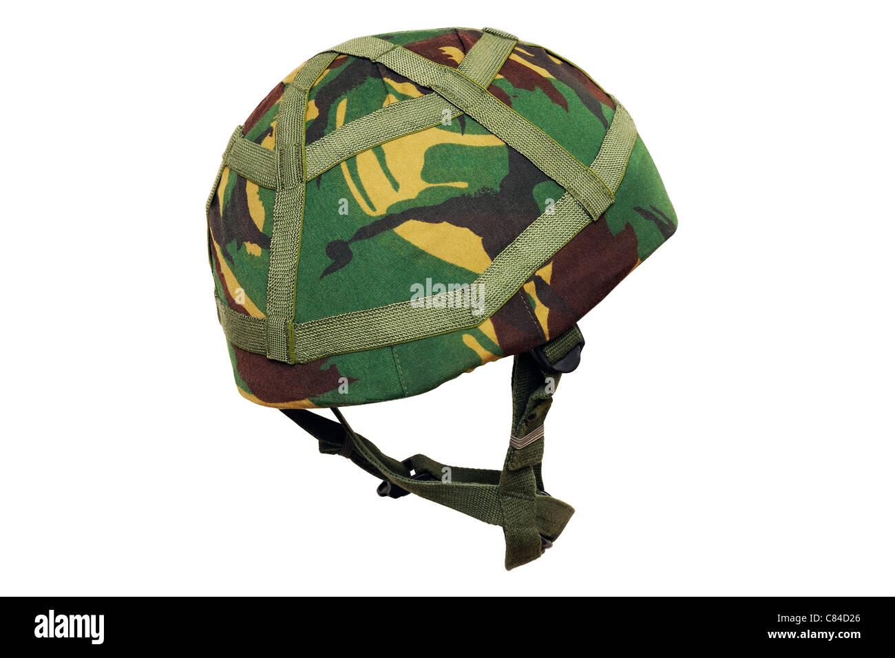Army Helmet. British Army Issue MK.6 Kevlar Combat Helmet. - Stock Image