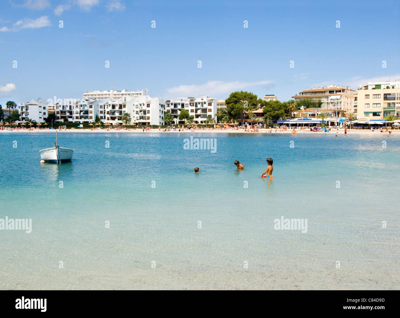 Mallorca, Port de Alcudia, beach Stock Photo