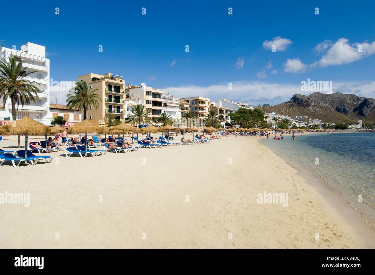 Mallorca, Port de Pollenca, beach Stock Photo