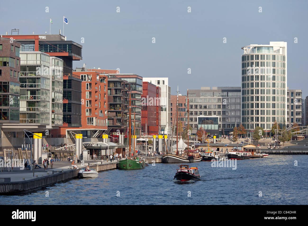 Sandtorkai, Hafencity (harbour city) , Hamburg, Germany - Stock Image