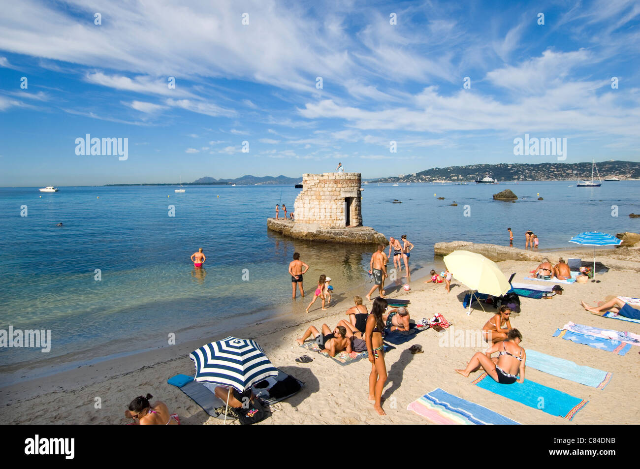 Cap d'Antibes, small beach for families Stock Photo