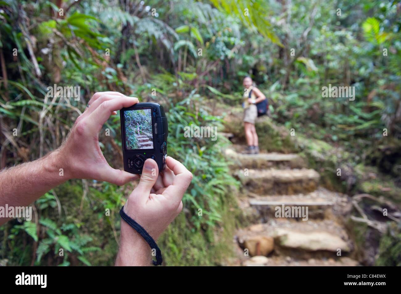 Kinabalu National Park, Malaysias highest mountain (4095m), Sabah, Borneo, Malaysia Stock Photo