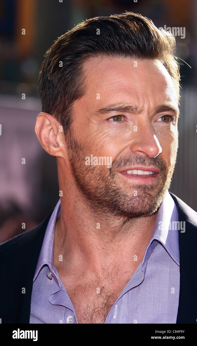 HUGH JACKMAN REAL STEEL. WORLD PREMIERE. UNIVERSAL CITY CALIFORNIA USA 02 October 2011 - Stock Image
