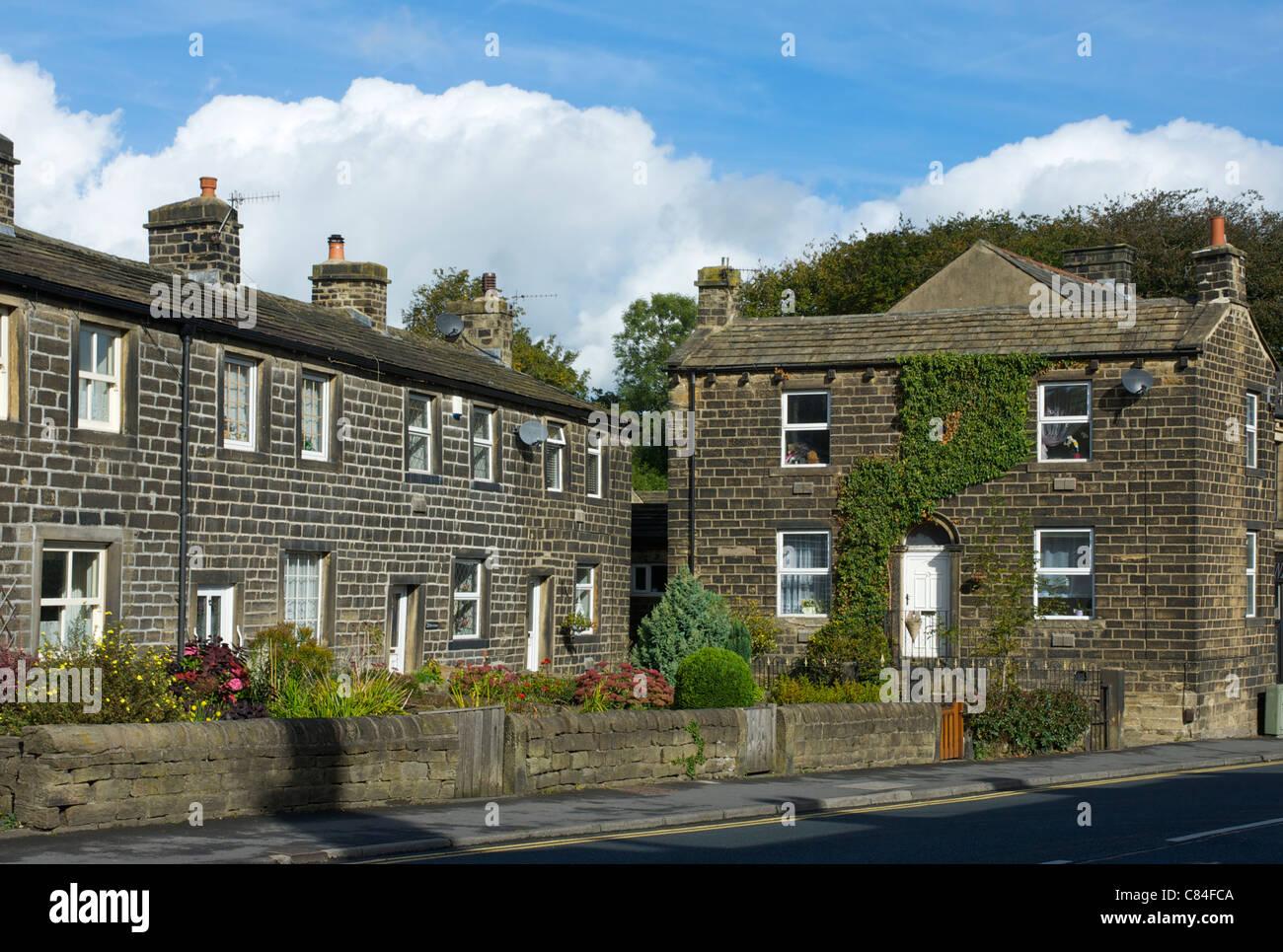 The village of Steeton, West Yorkshire, England UK - Stock Image