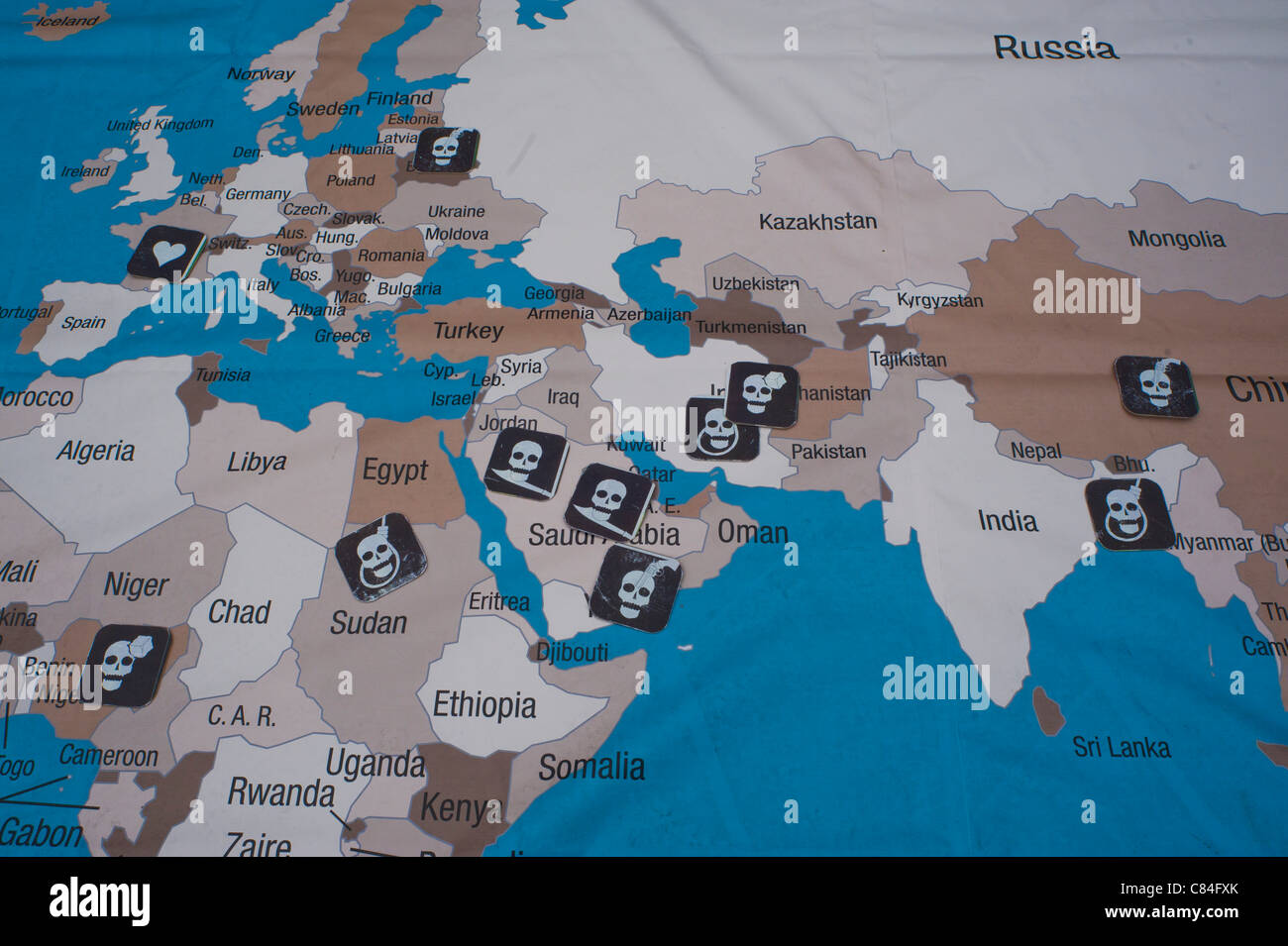 World Map Countries With Europe Stock Photos World Map Countries